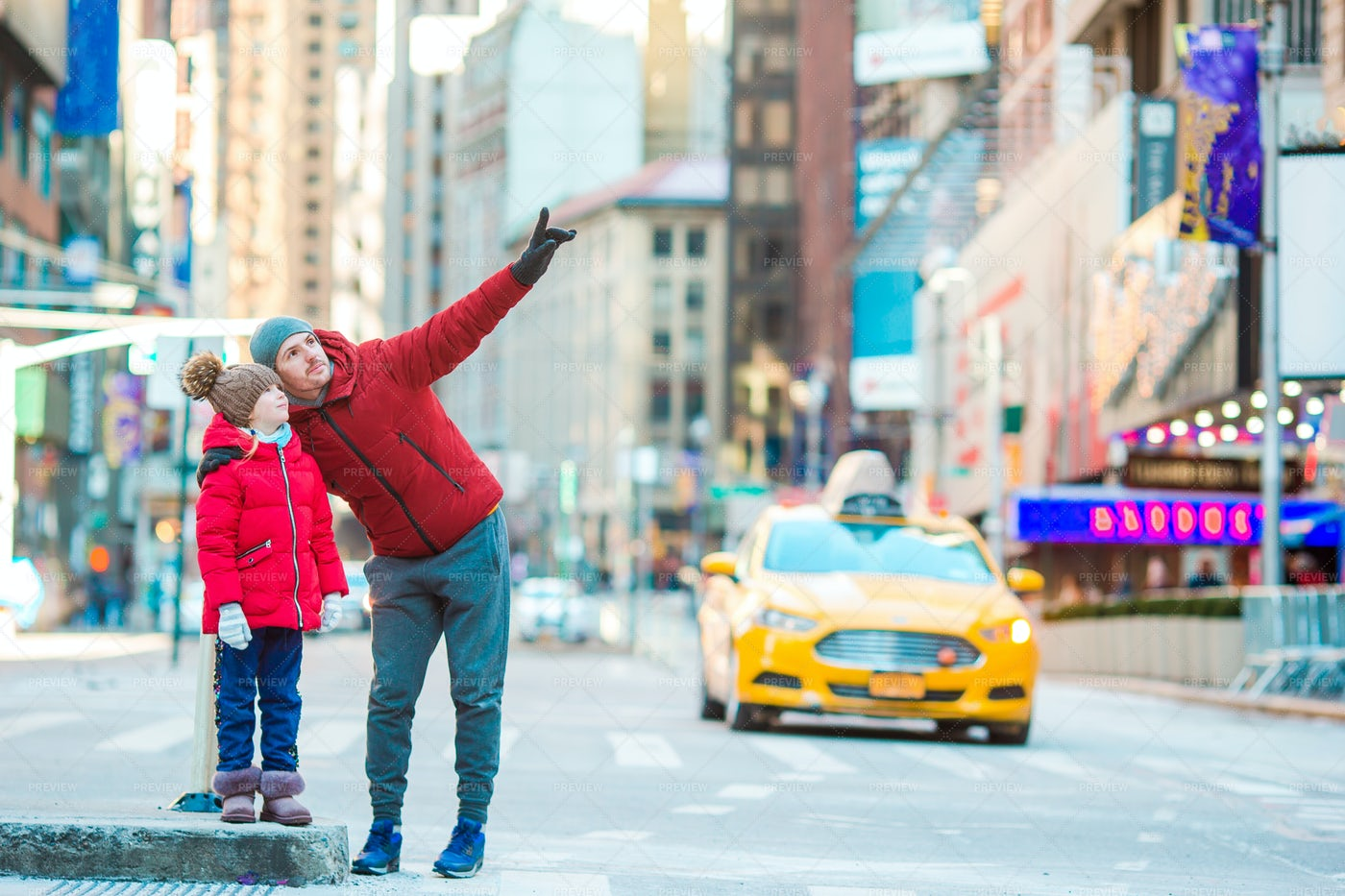 Family In NYC: Stock Photos