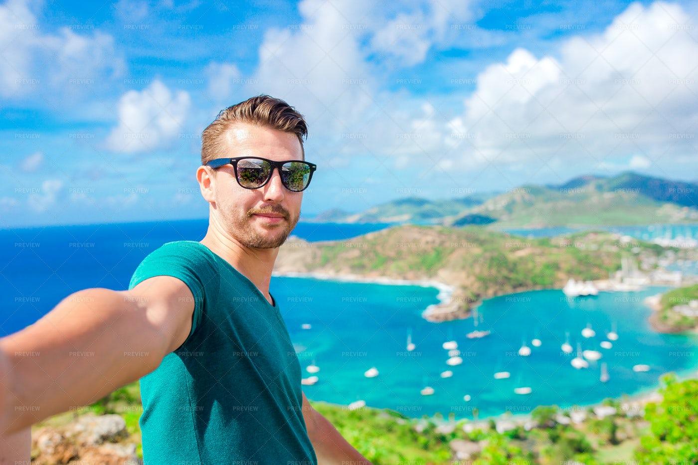 Young Man Taking Selfie: Stock Photos