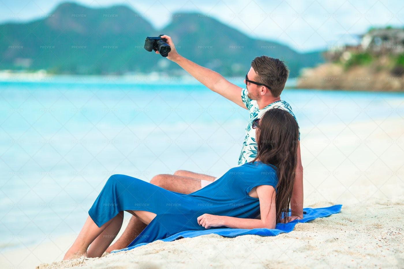 Couple Taking A Selfie: Stock Photos