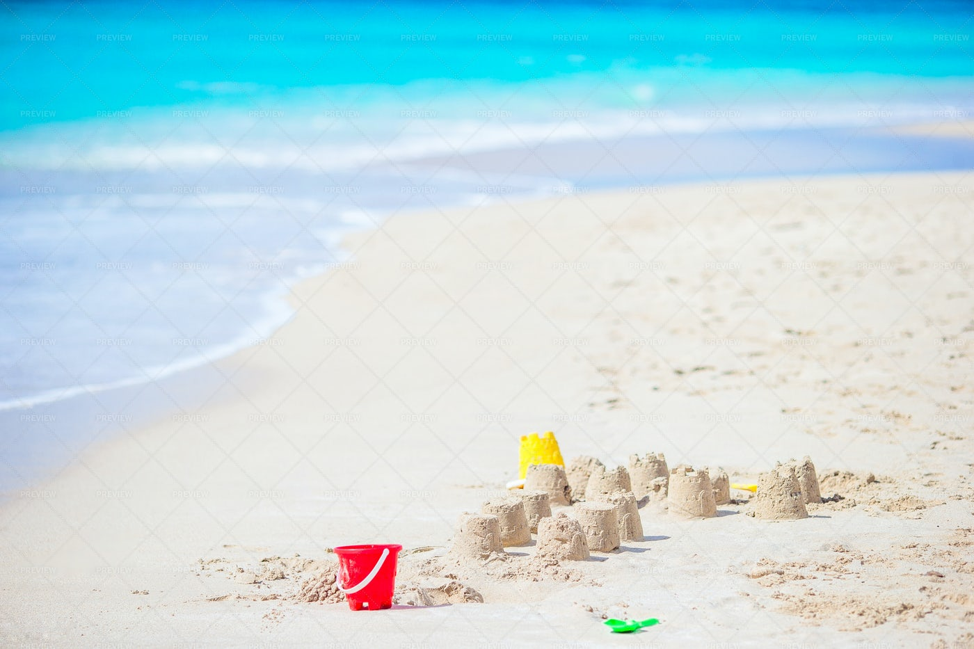 Sandcastle At Beach: Stock Photos