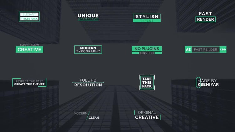 Modern Clean Titles: After Effects Templates