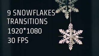 9 Snowflakes Transitions: Motion Graphics