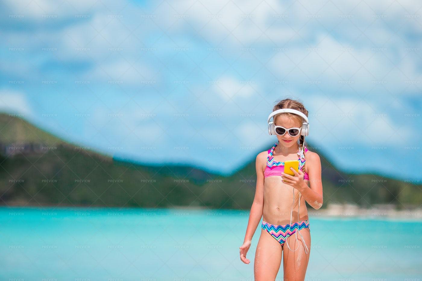 Beach Gadgets: Stock Photos