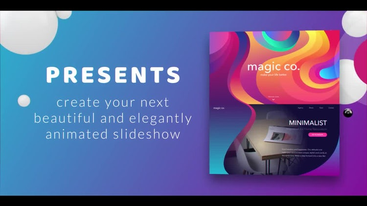 Color Website Presentation: After Effects Templates