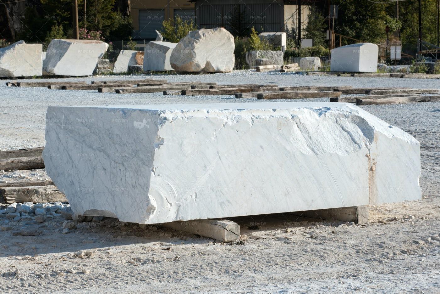 Block Of White Carrara: Stock Photos