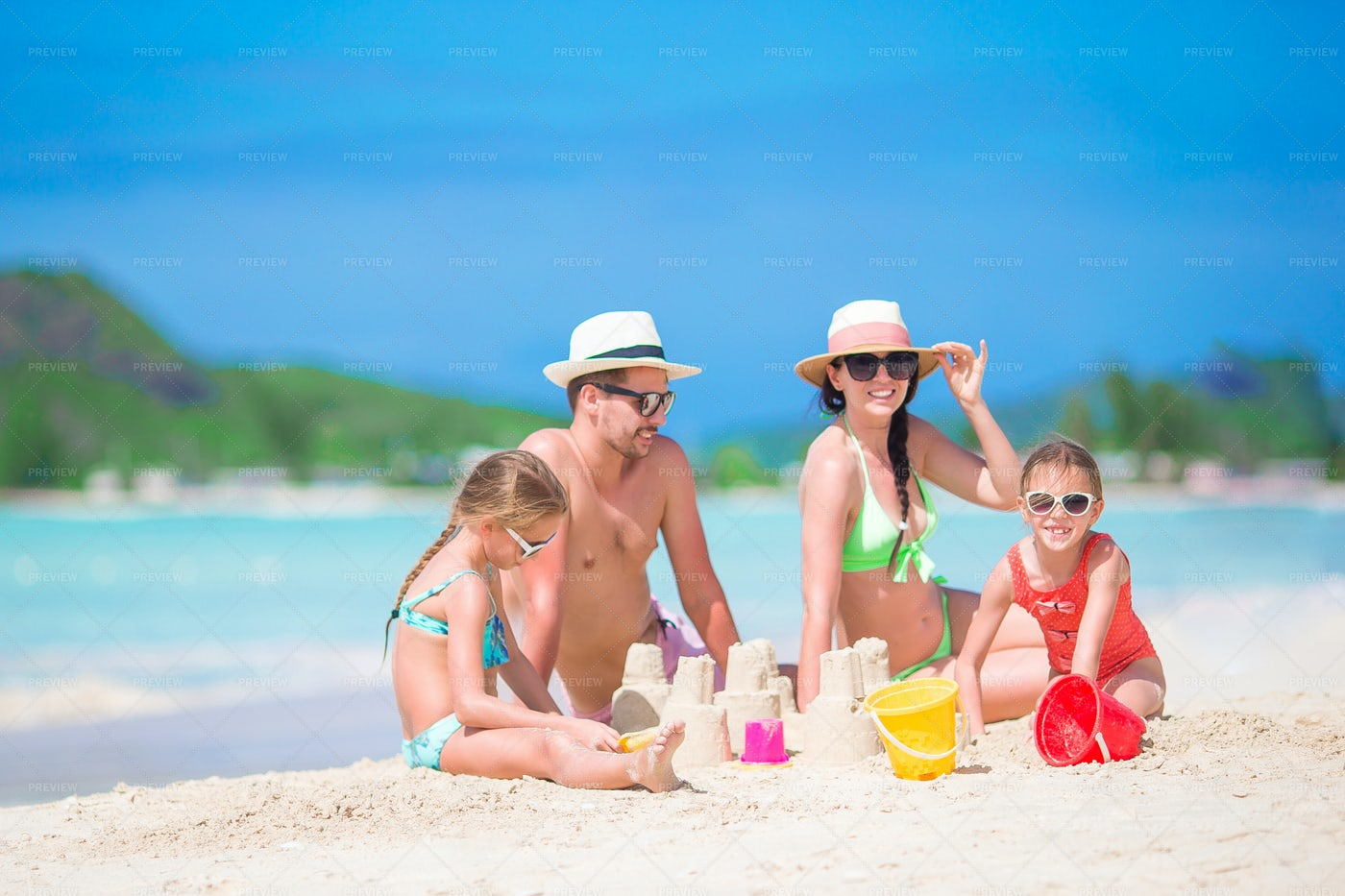 Making Sand Castles: Stock Photos