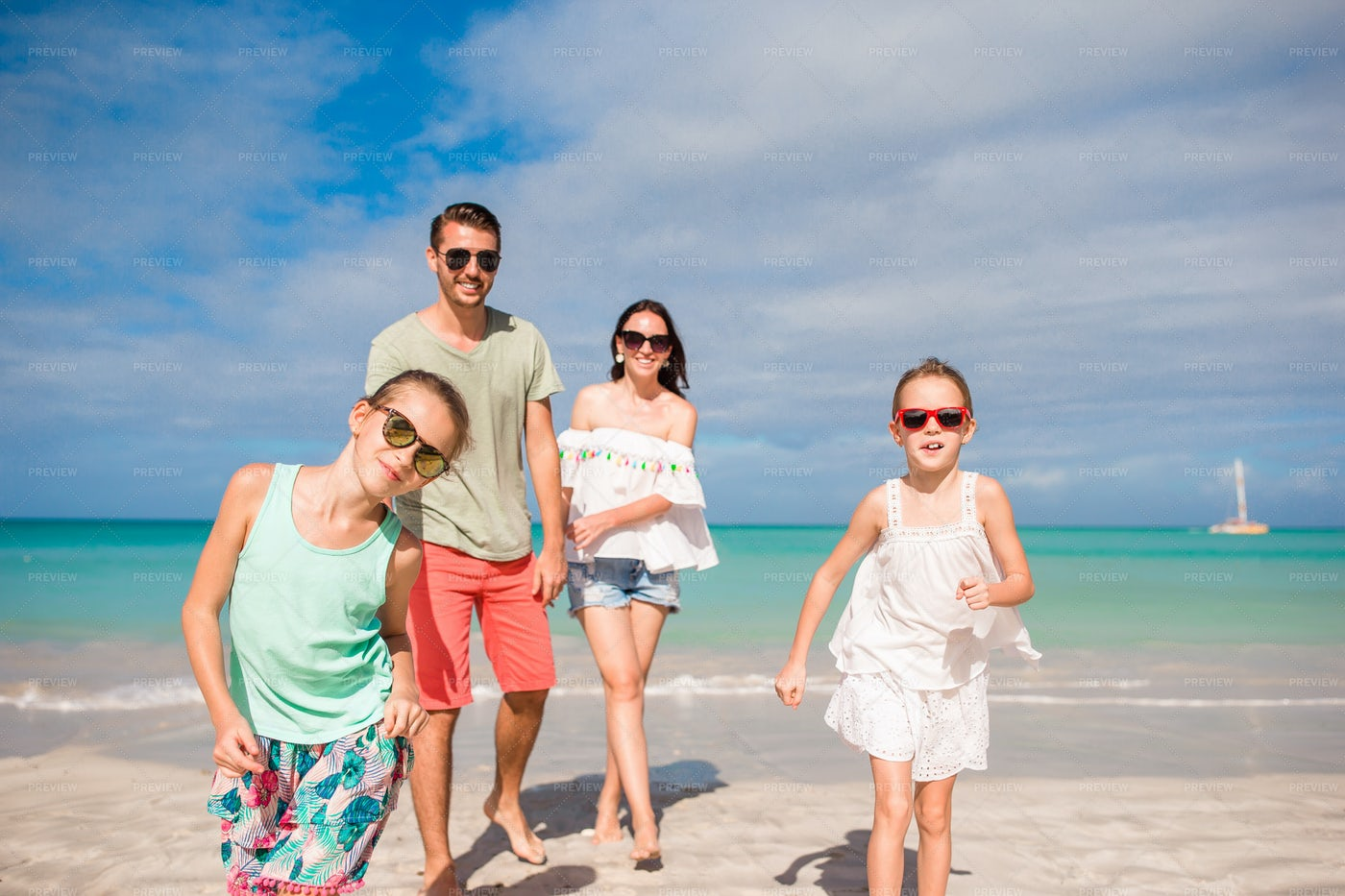 Young Family On Vacation: Stock Photos