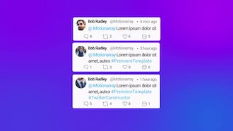 Twitter Constructor: Premiere Pro Templates