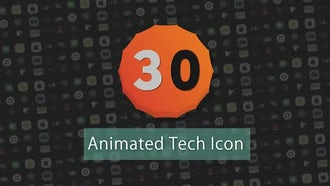 Infographic Presets : 30 Animated Tech Icons: After Effects Templates
