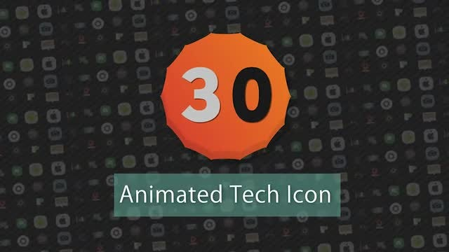 Infographic Presets : 30 Animated Tech Icons: After Effects Presets