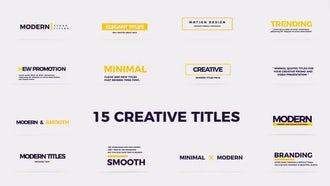Creative Modern Titles: Premiere Pro Templates