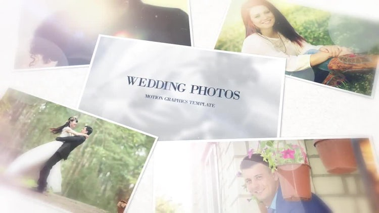 Wedding Photos: After Effects Templates