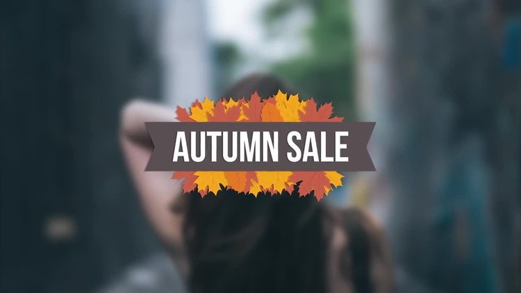 Autumn Sales Offer Titles: After Effects Templates