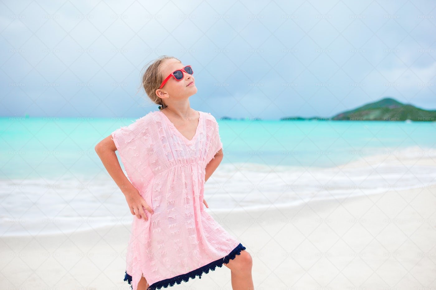 Posing On The Beach: Stock Photos