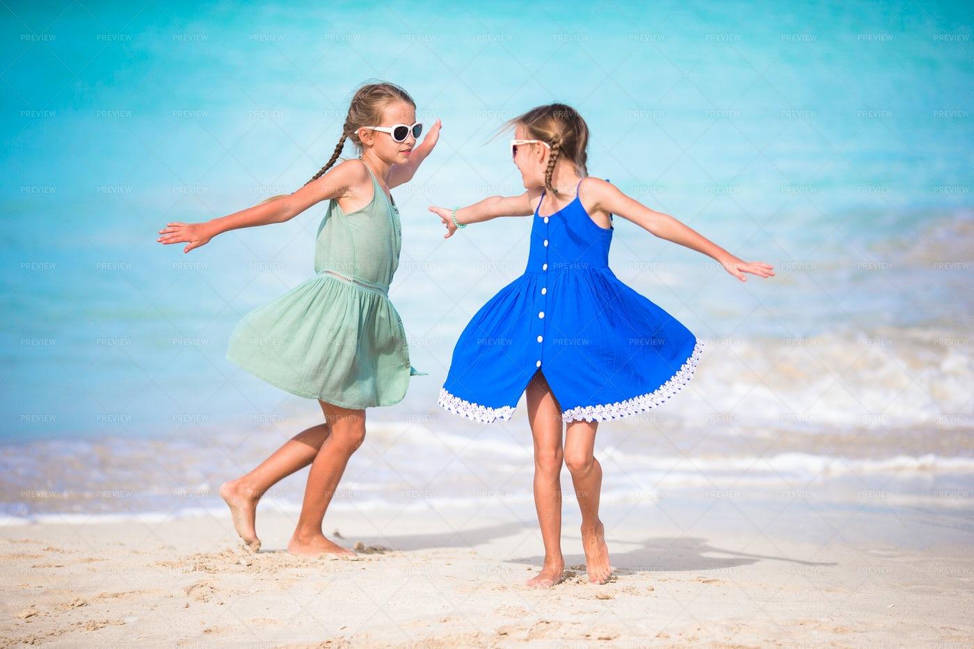 Little Girls Having Fun: Stock Photos