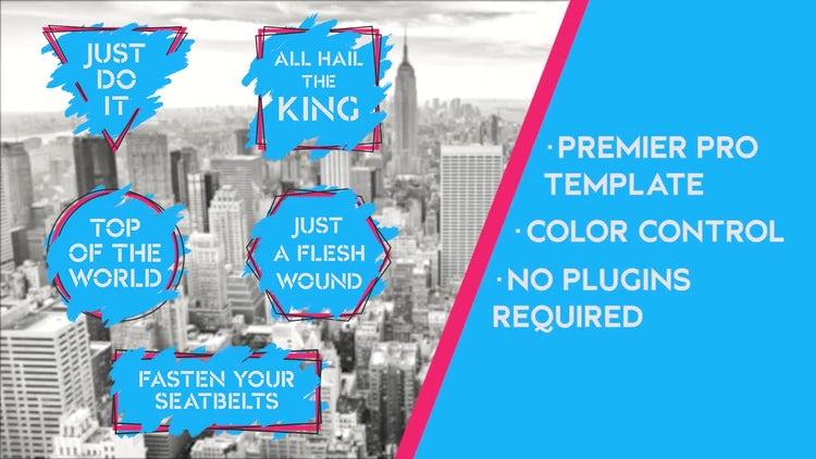 Grunge Ink Titles v.2: Premiere Pro Templates