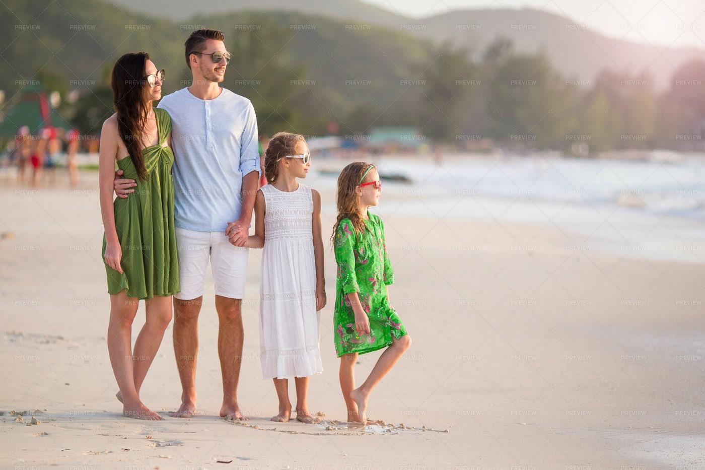 Family On The Beach: Stock Photos