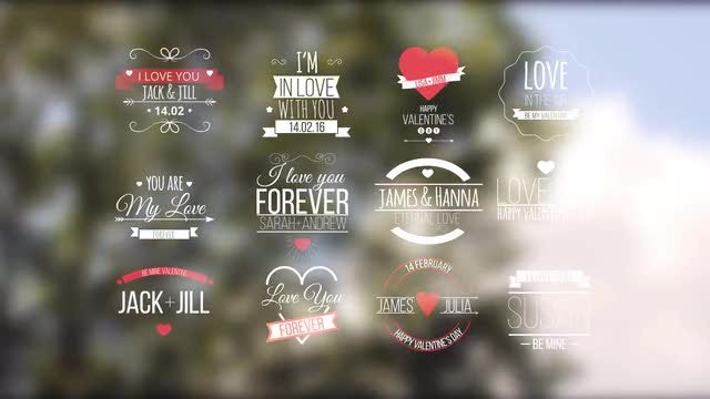 Love Titles: After Effects Templates
