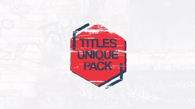 Unique Grunge Titles: Premiere Pro Templates