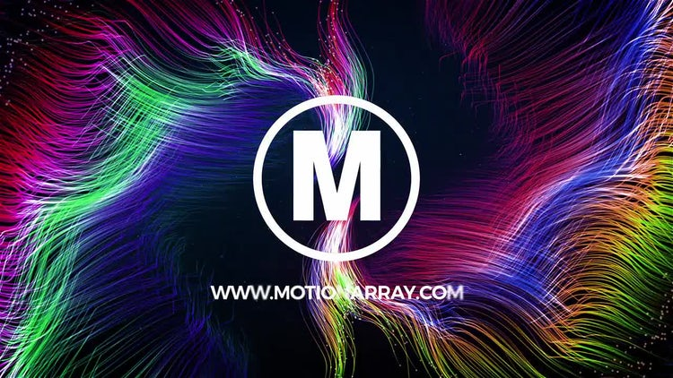 Colorful Particle Logo: After Effects Templates