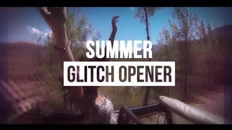 Summer Glitch Opener: After Effects Templates