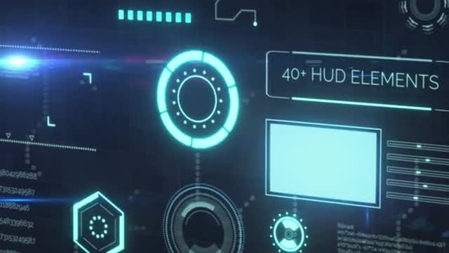 40+ HUD Elements: After Effects Templates