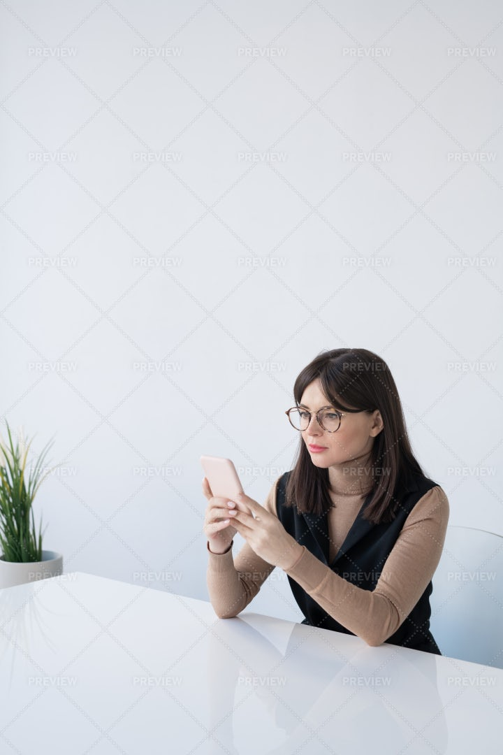 Pretty Young Businesswoman In Smart...: Stock Photos