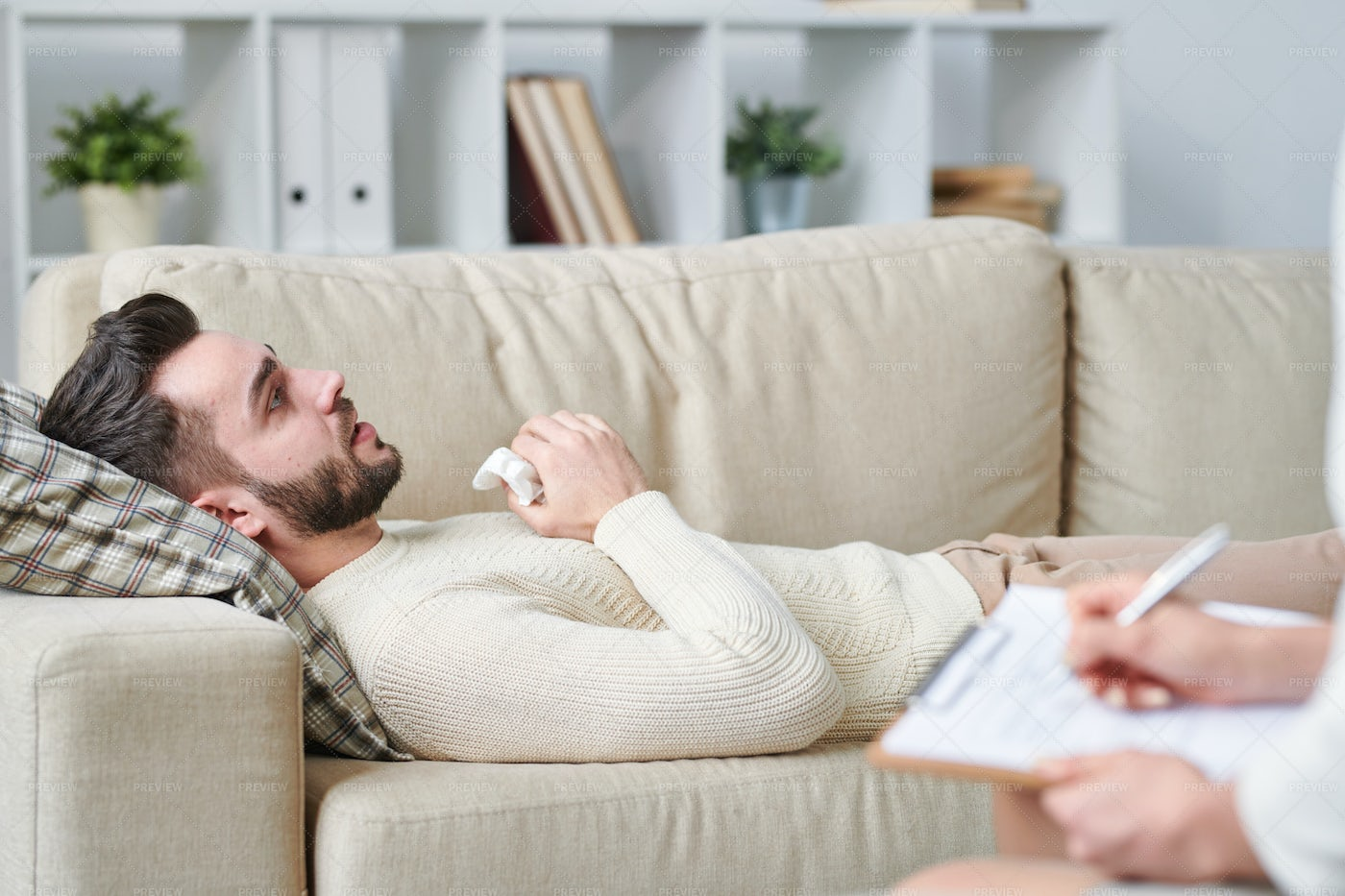 Man On Couch: Stock Photos