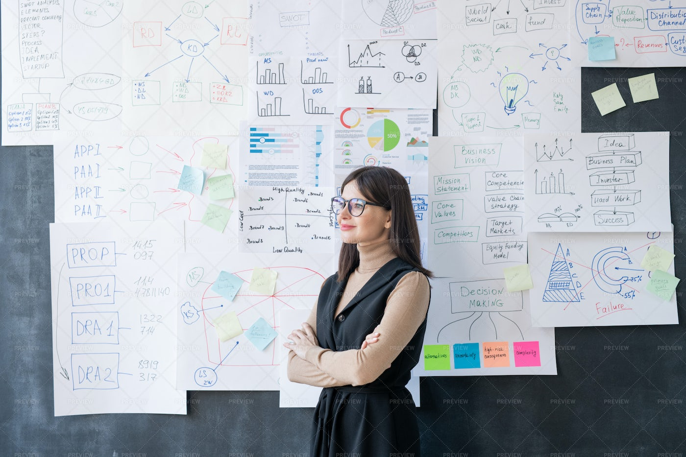 Young Successful Female Economist...: Stock Photos