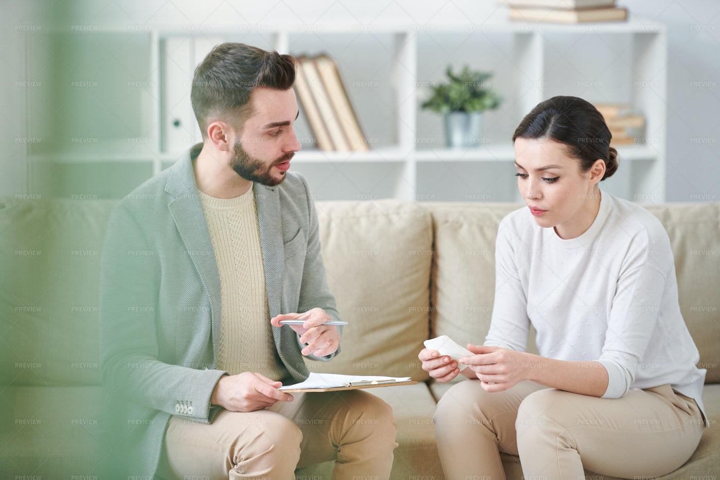 Woman Visiting Counselor: Stock Photos