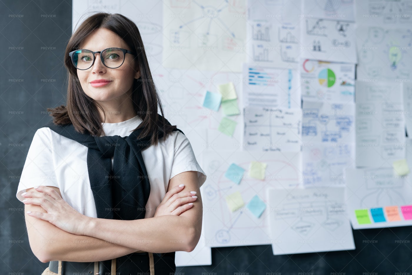 Pretty Young Businesswoman In...: Stock Photos