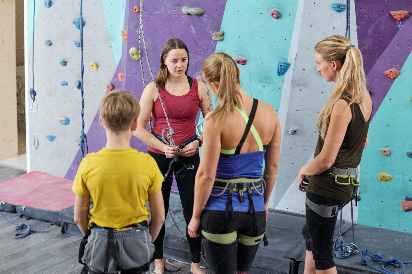 Young Climbing Instructor...: Stock Photos