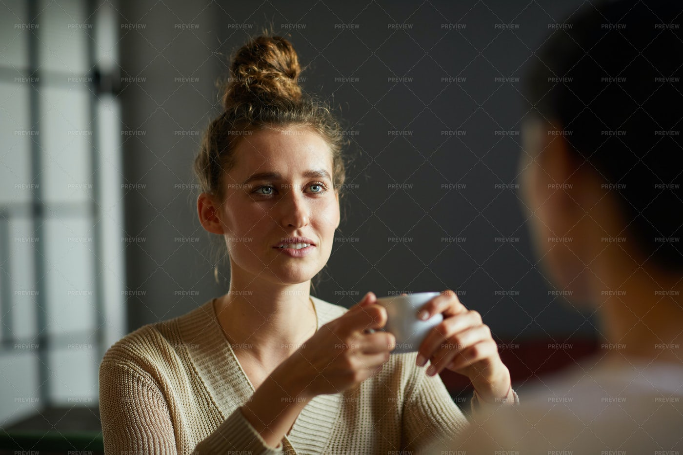 Woman With Cup Of Tea: Stock Photos