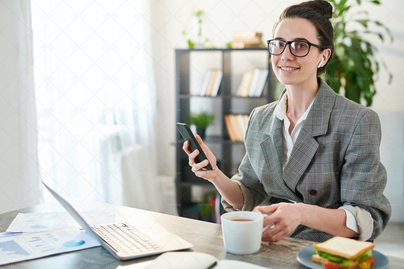 Successful Businesswoman At...: Stock Photos