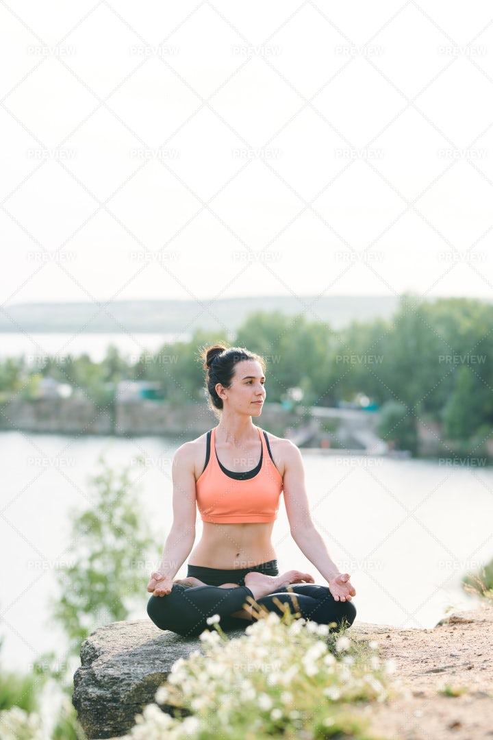 Yogis Enjoying Meditation Outdoors: Stock Photos