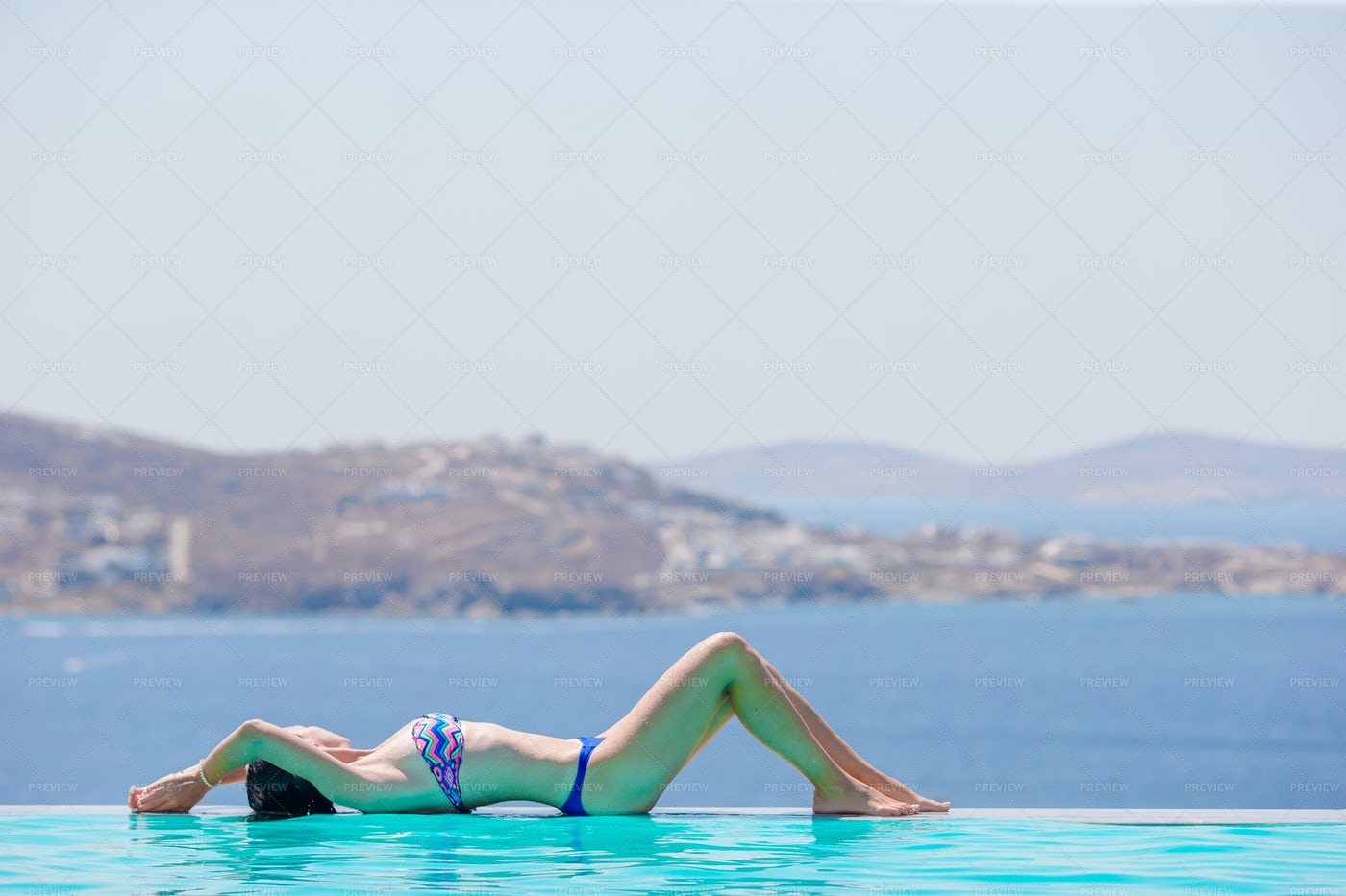 Relaxing Poolside: Stock Photos