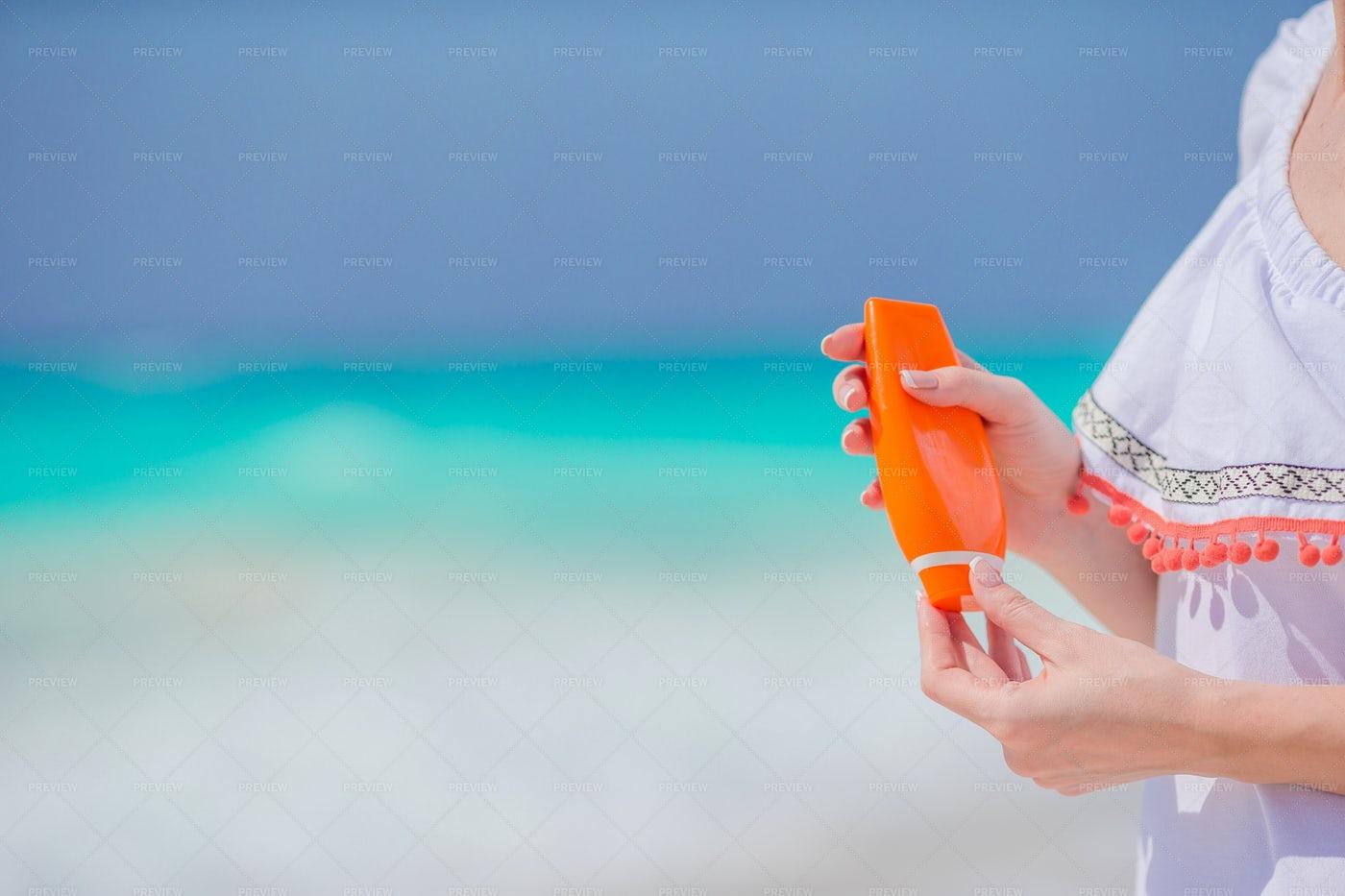 Suncream Bottle: Stock Photos