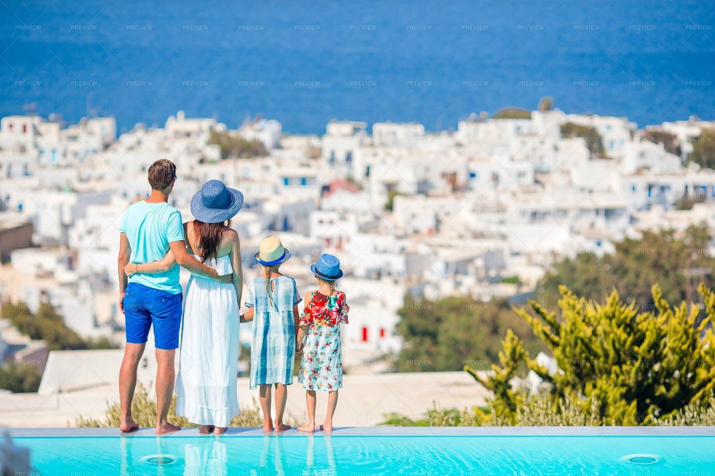 Family Enjoying The View: Stock Photos