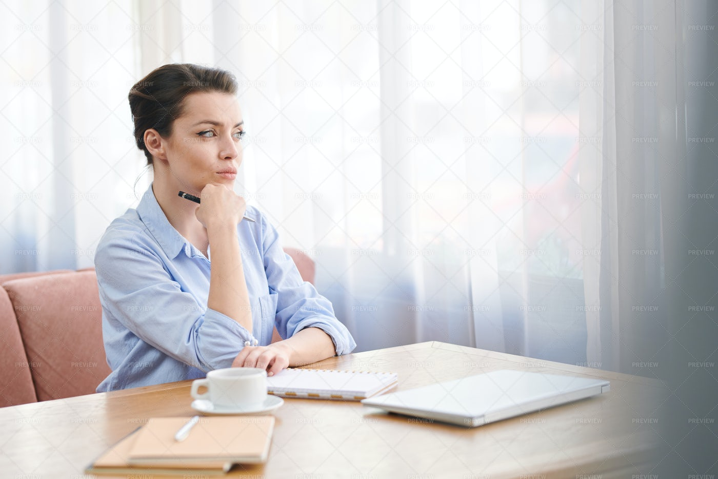 Female Manager Preparing For...: Stock Photos