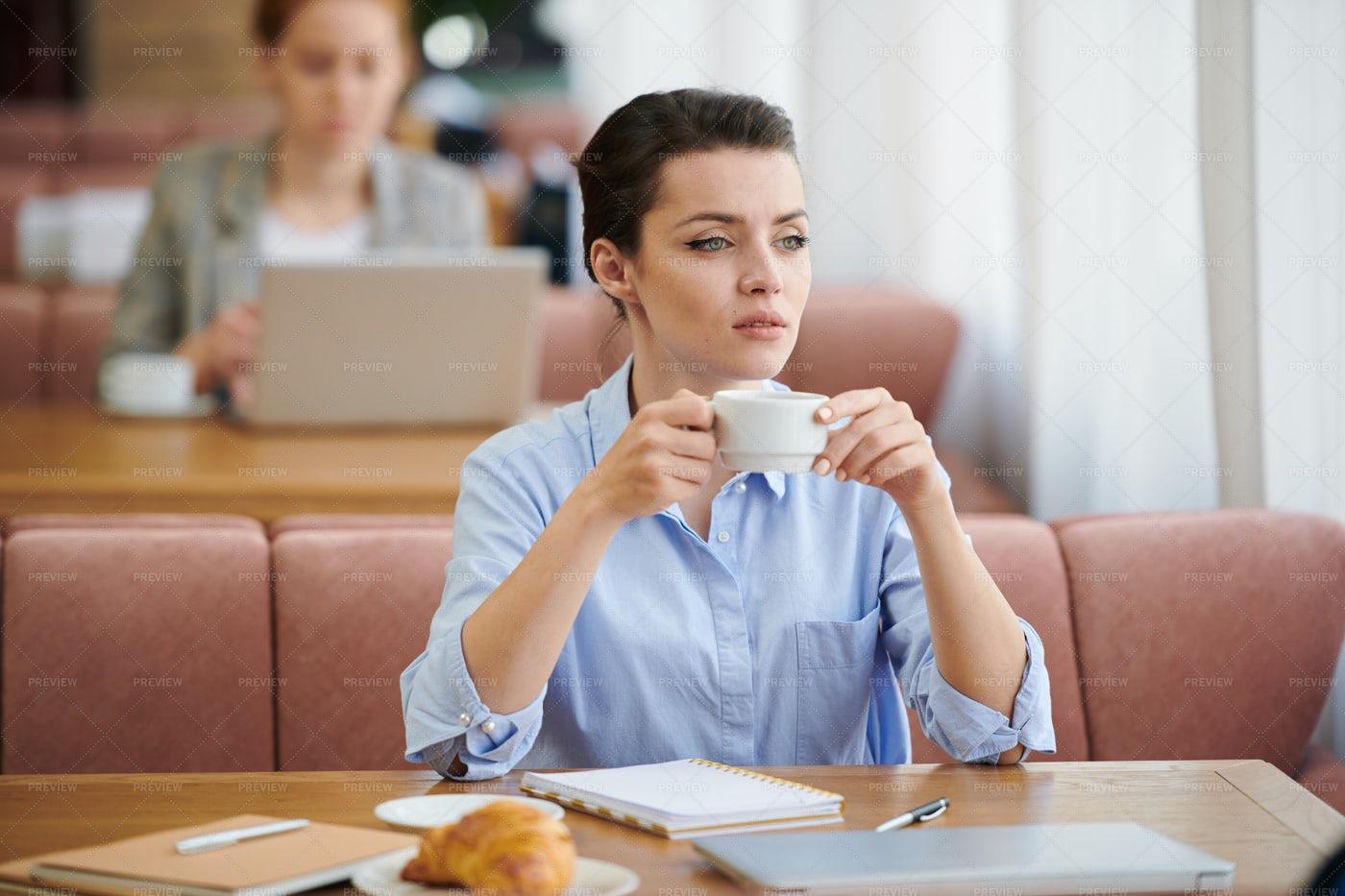 Purposeful Businesswoman Having...: Stock Photos