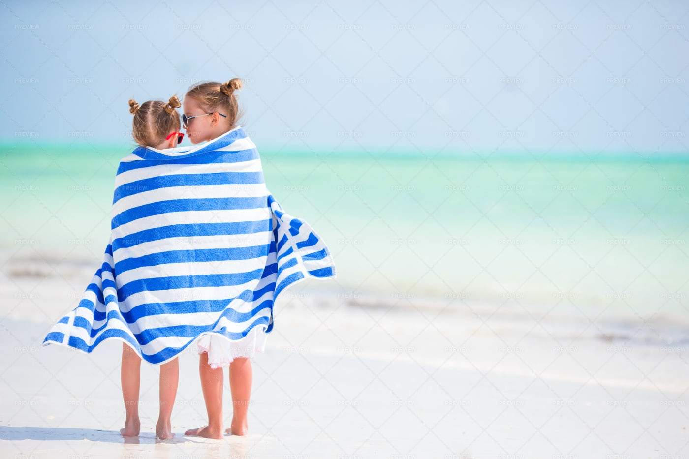 Girls Wrapped In A Towel: Stock Photos