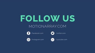 Social Outro (2 versions): Motion Graphics Templates