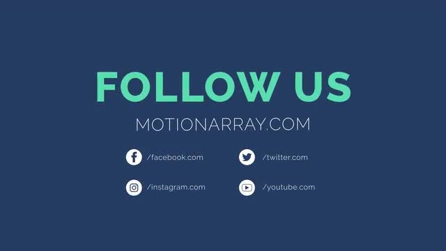 5 Social Outro - Motion Graphics Templates | Motion Array