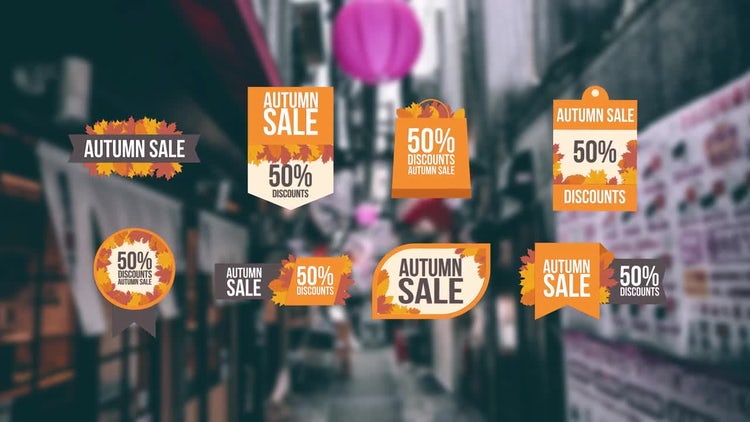 Autumn Sales Offer: Motion Graphics Templates