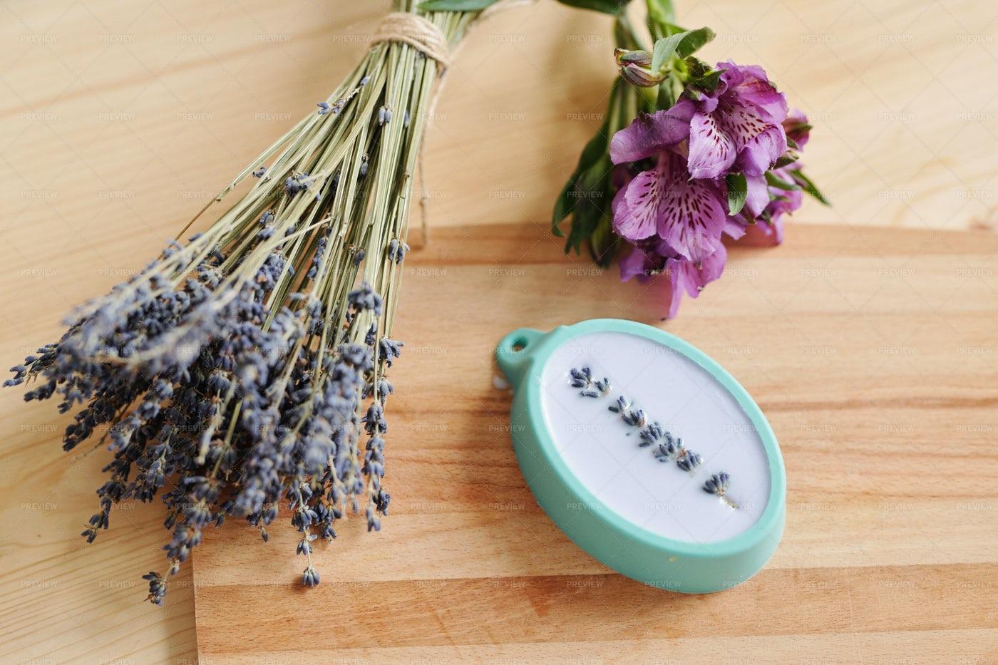 Fresh Lavender And Purple...: Stock Photos
