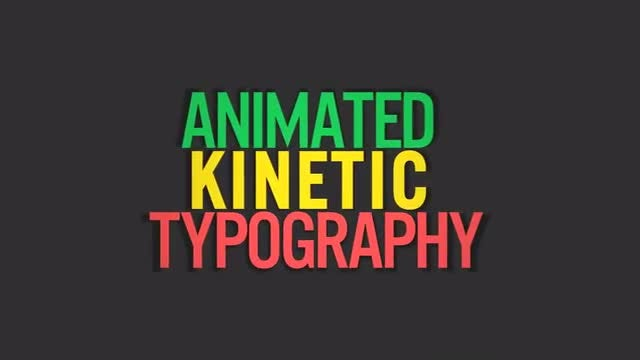 Kinetic Typography V2 - Motion Graphics Templates | Motion Array