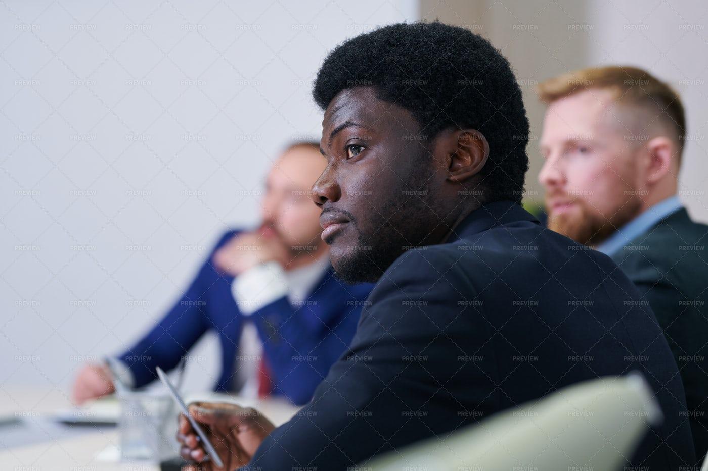 Serious Young African Businessman...: Stock Photos