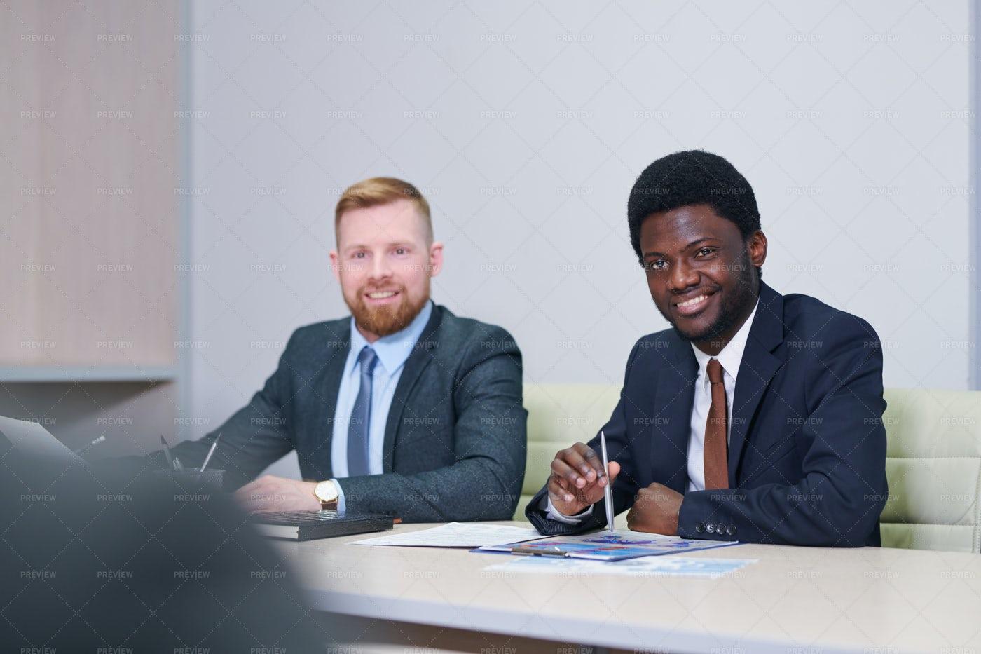 Two Intercultural Businessmen In...: Stock Photos