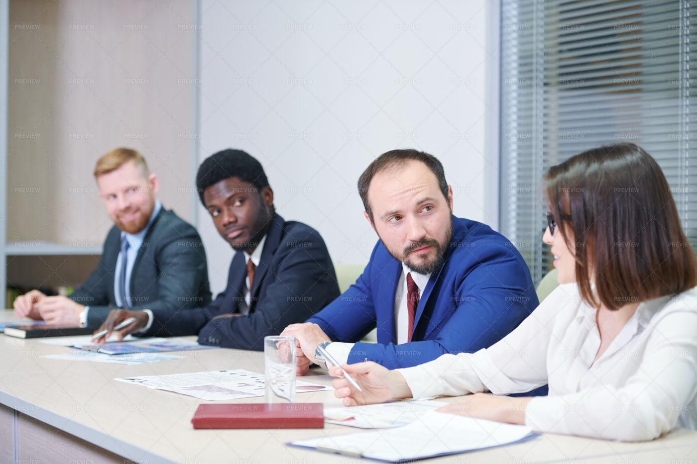 Confident Businessman Consulting...: Stock Photos