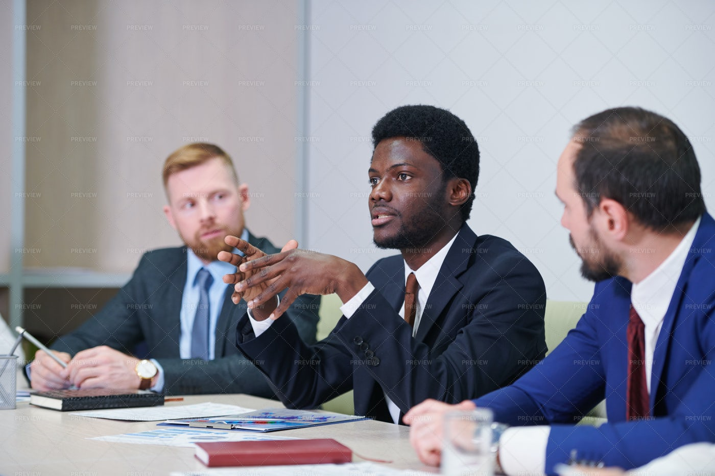 Young Confident Delegate Or Trader...: Stock Photos